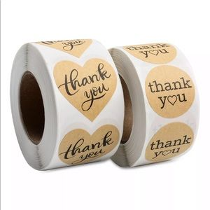 40 Kraft Paper Thank You Stickers
